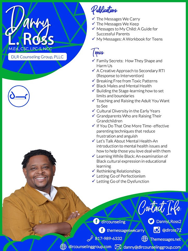 Danny L. Ross One Pager Back