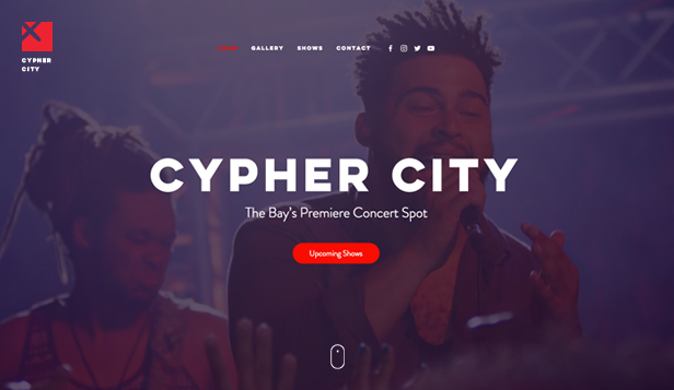 Music Industry website templates – Concert Venue