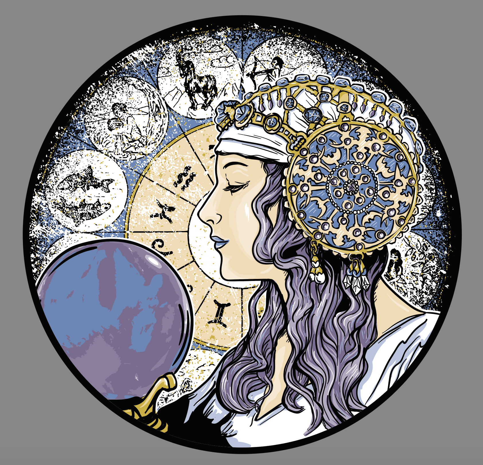 Fortune Teller Illustration