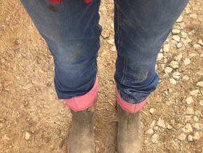 Little bit dirt little bit blue jeans