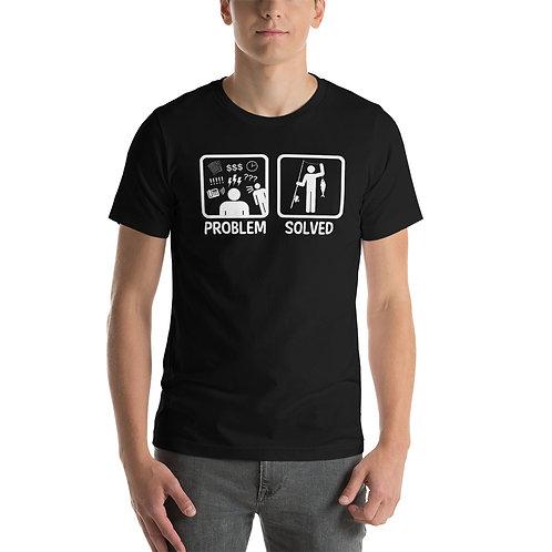 Problem Soved Black T-Shirt