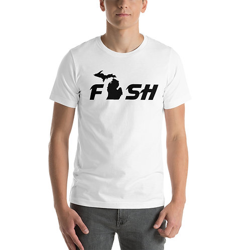 Fish Michigan Black Print