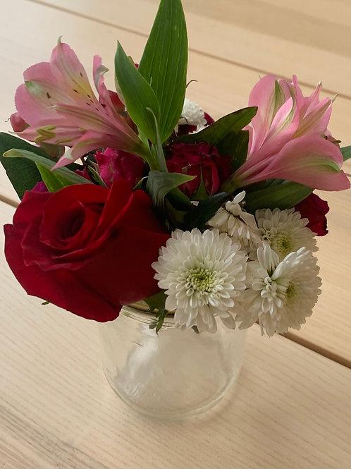 Mini Floral Mason Jars