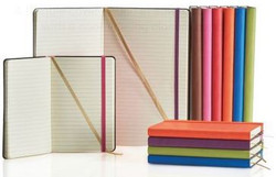 Notebooks in a variety of cover colours and sizes
