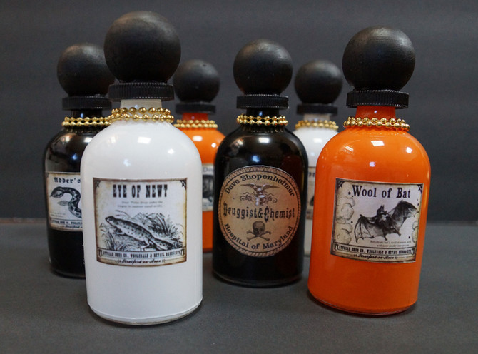 DIY Witch Potion and Poison Bottles