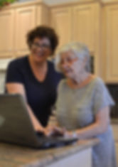 laptop grandmother learning tech