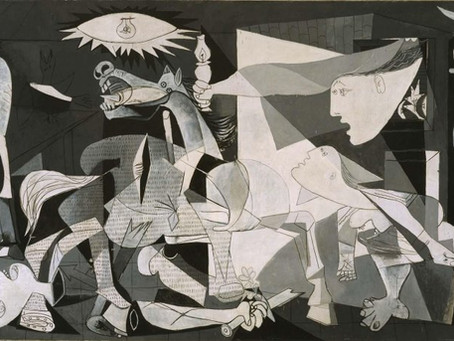 "The Gestapo Points to Guernica and Asks Picasso, ""Did You Do This?;"" Picasso Replies ""No, You Did!"""