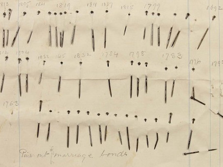 Jane Austin and her use of pins to edit her work