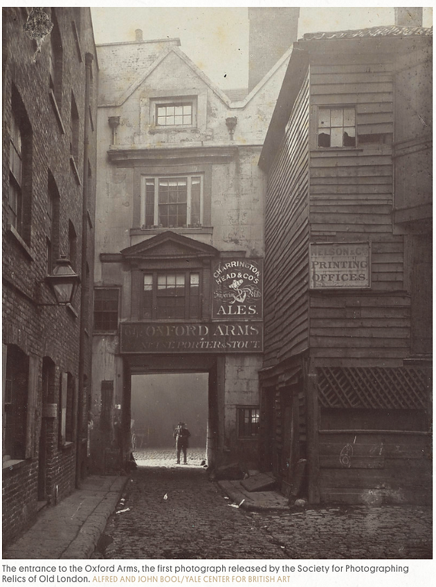 The Society For Photographing Relics Of Old London Marks Orchestrated Photographic Preservation Dozens Buildings Including Churches Inns