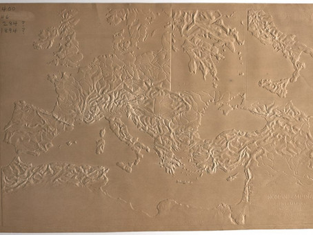A Map of the Roman Empire Allowing Blind & Sighted Students to Experience Geography by Touch (1888)