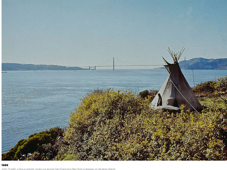 The occupation of Alcatraz by Native Americans in 1969