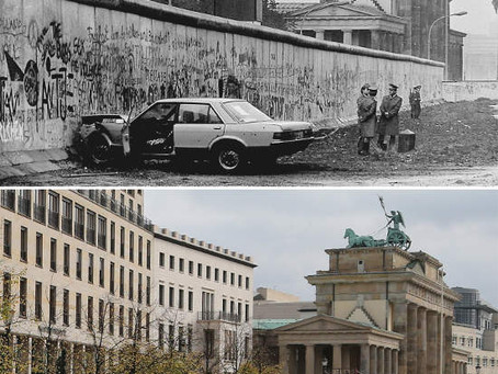 The Berlin Wall - Before And After
