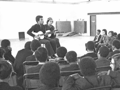 When Bob Marley and Johnny Nash played a school in Peckham together.