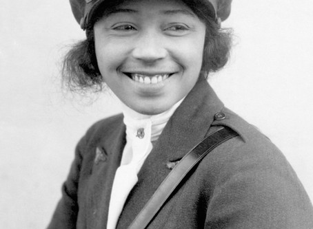 Bessie Coleman the first African American, and the first Native American woman pilot