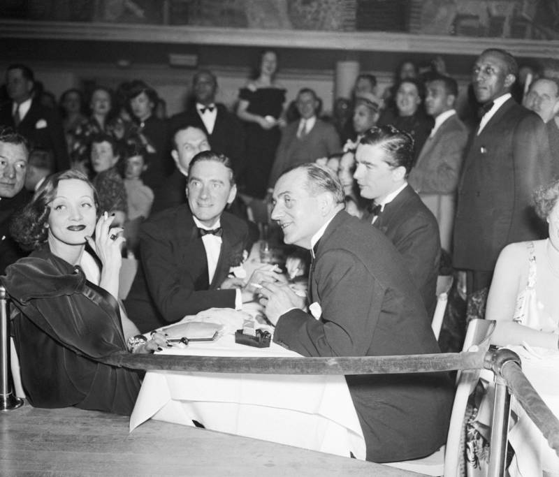 Marlene Dietrich, glamorous film star, visited the Cotton Club with director Fritz Lang on Feb. 6, 1937 — and was almost mobbed by a group of fans.