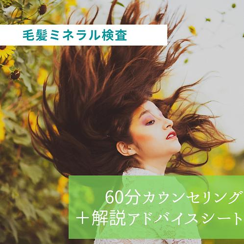 毛髪ミネラル検査(60分カウンセリング+オリジナル解説アドバイスシート)