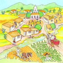 A Mexican village.