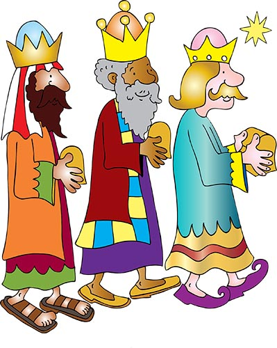 3 wise men coloured