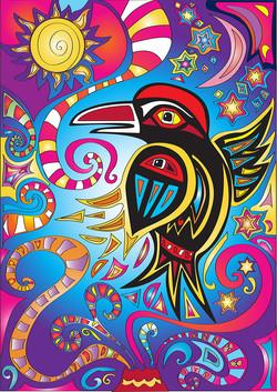 raven coloured
