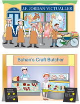 Two butchers shops.