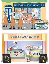 Two butchers shops.