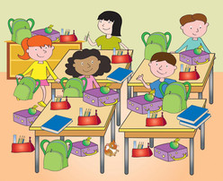 How many lunchboxes in the classroom.