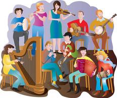 A Traditional Irish band.