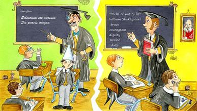 Winston Churchill's school days.