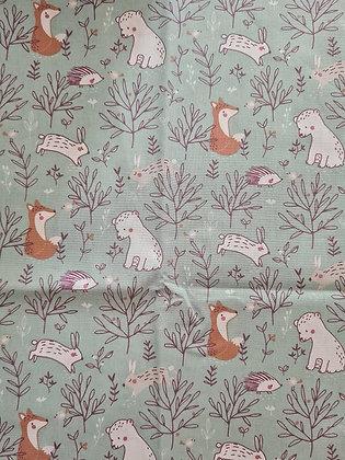 Coton renards et oursons