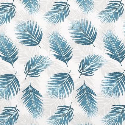 Coton feuilles tropicals vert canard
