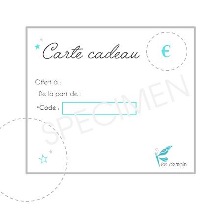 La Carte cadeau ( à imprimer)