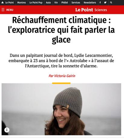 Réchauffement climatique : l'exploratrice qui fait parler la glace - Article du Point