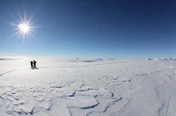Sur la calotte du Groenland