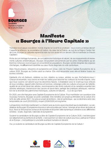 Parrainage de Bourges - candidate à la capitale européenne de la culture 2028