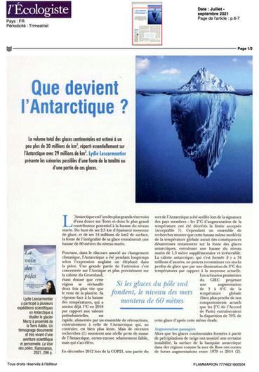 Tribune climatique - l'Écologiste