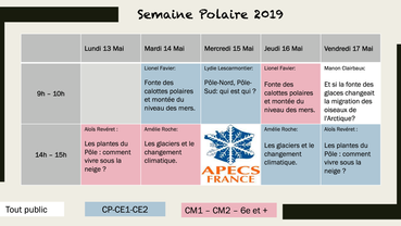 Semaine Polaire APECS-France - édition 2019 !