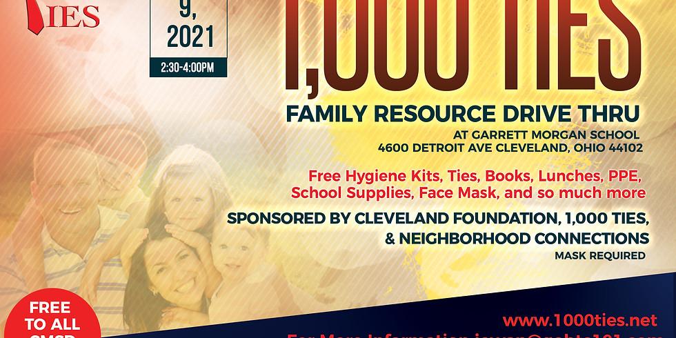 1,000 Ties Family Resource Drive Thru Event Garrett Morgan School