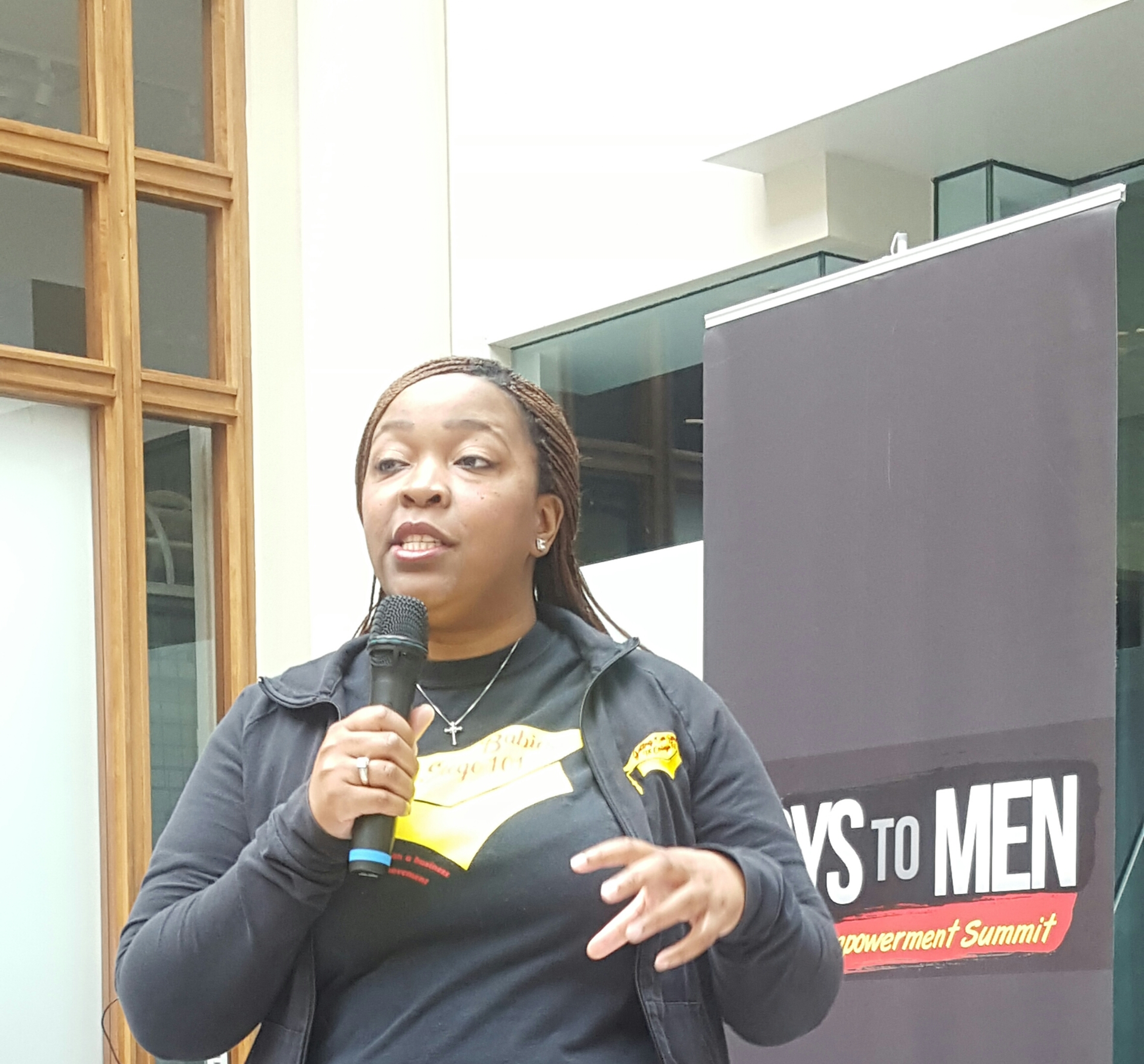 GOBTC Founder speaking at Boys to Men Su