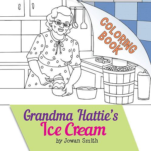 Grandma Hattie's Ice Cream Coloring Book