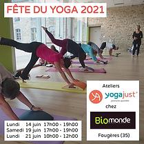 ateliers Yogajust journée du yoga