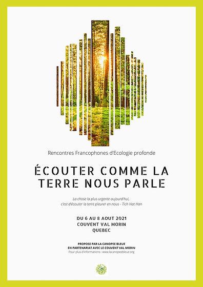 Affiche Rencontres Francophones d'Ecolog