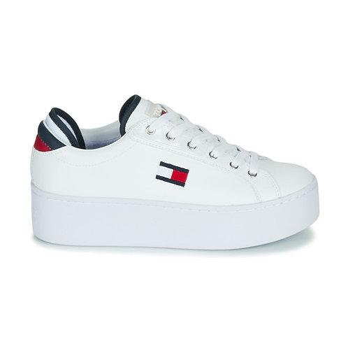 TOMMY JEANS - Flatform Sneaker - Sneakers con zeppa bianche