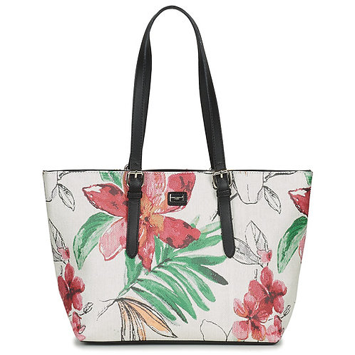 DAVID JONES - Borsa bianca con fantasia floreale - HANIDO +Colori