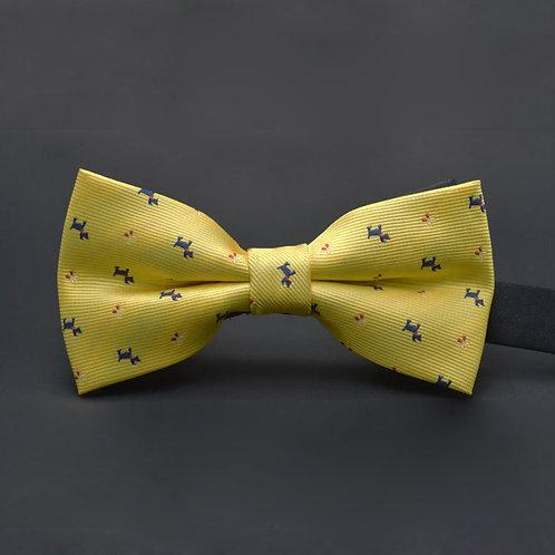 papillon uomo giallo fantasia cani cravattino farfallino cerimonia matrimonio prelegato allacciato hipster design urbanloop