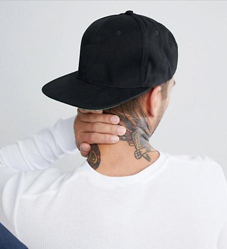 Cappello snapback con visiera piatta nero 2018 urban loop hip hop rap streetstyle