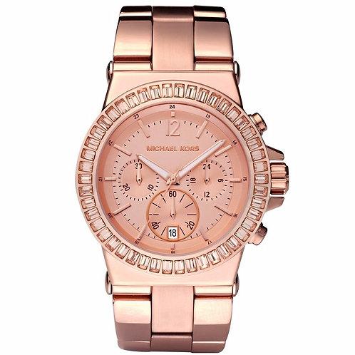 MICHAEL KORS MK5412 DYLAN - Orologio donna in acciaio rosato con cronografo numeri romani orologi urban loop