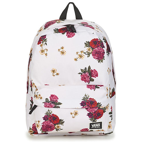 VANS - Realm classic backpack - Zaino bianco floreale
