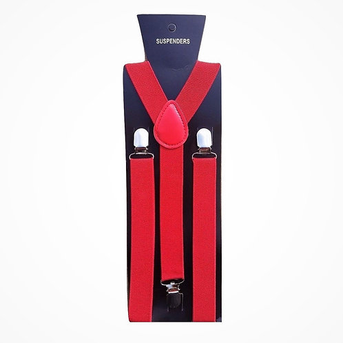 "Bretelle slim - Forma ""Y"" - Larghezza 2,5 cm - Rosso"
