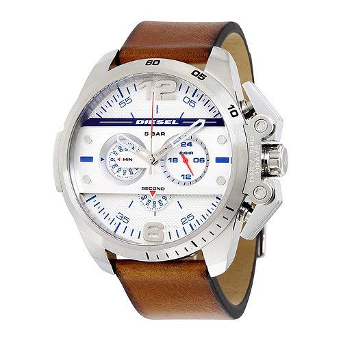 DIESEL - Orologio uomo DZ4365 acciaio cinturino pelle orologi urban loop