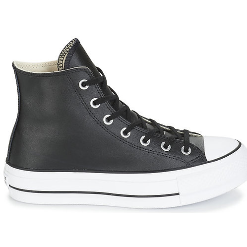 CONVERSE - Chuck Taylor All Star Lift Clean Leather Hi - Sneakers alte +Colori
